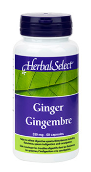 Herbal Select Ginger 550 mg | 60 Vcaps