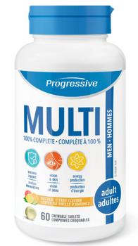 Progressive Chewable Multivitamin 100% Complete - Men Adult | 60 Chewable Tablets