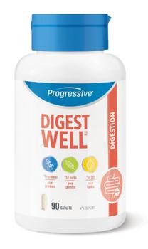Progressive Digest Well Digestion Supplement | 90 Caplets