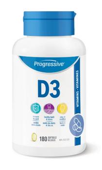 Progressive D3 Vitamin | 180 Softgels