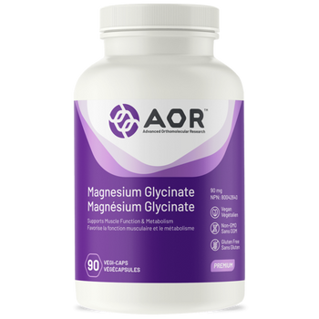 AOR Magnesium Glycinate 90 mg | 90 Vegi-Caps