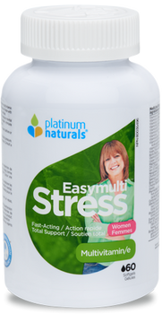 Platinum Naturals Easy Multi Stress Multivitamin - Women | 60 Softgels