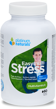 Platinum Naturals Easy Multi Stress Multivitamin - Men | 60 Softgels