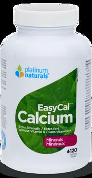 Platinum Naturals Extra Strength EasyCal Calcium Mineral Supplement | 120 Softgels