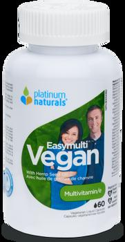 Platinum Naturals Easy Multi Vegan Multivitamin | 60 Liquid Capsules