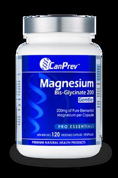 CanPrev Magnesium Bis. Glycinate 200 Gentle | 120 Vegetable Capsules