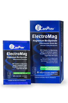 CanPrev ElectroMag Magnesium Bis. Glycinate Effervescent Drink Mix | 30 x 6.7 g Packets
