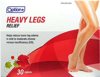 Option+ Heavy Legs Relief | 30 Tablets