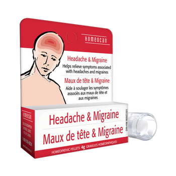 Homeocan Headache & Migraine Homeopathic Pellets | 4 g