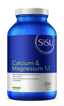 Sisu Calcium & Magnesium 1:1 | 300 Capsules