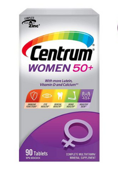 Centrum Women 50+ Complete Multivitamin and Multimineral Supplement | 90 Tablets