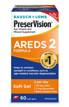 Bausch + Lomb PreserVision Areds 2 Formula | 60 Soft Gels