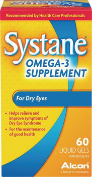 Systane Omega-3 Supplement for Dry Eyes | 60 Liquid Gels