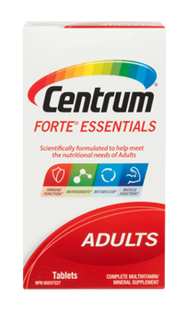 Centrum Adults Forte Essentials Complete Multivitamin & Mineral Supplement | 100 Tablets