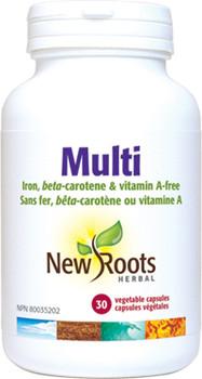 New Roots Multi Vitamin | 60 Vegetable Capsules