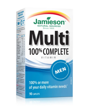 Jamieson 100% Complete Multivitamin - Men | 90 Caplets