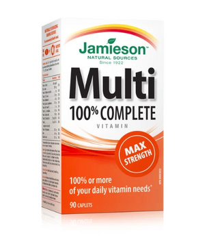 Jamieson 100% Complete Multivitamin - Adults - Max Strength | 90 Caplets