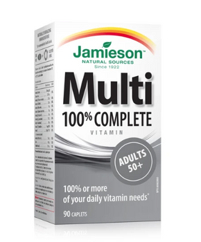 Jamieson 100% Complete Multivitamin - Adults 50+ | 90 Caplets