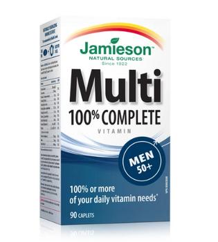 Jamieson 100% Complete Multivitamin - Men 50+ | 90 Caplets