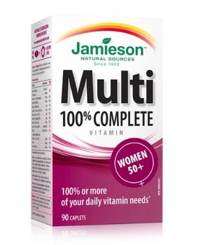 Jamieson 100% Complete Multivitamin - Women 50+ | 90 Caplets