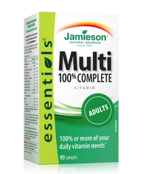 Jamieson 100% Complete Multivitamin - Essentials - Adults | 90 Caplets