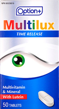Option+ Multilux Timed Release Multivitamin & Mineral with Lutein | 50 Tablets