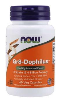 NOW Gr8-Dophilus 4 Billion | 60 Capsules