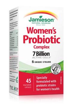 Jamieson 7 Billion Women's Probiotic Complex | 45 Vegetarian Capsules