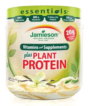 Jamieson Essentials Plus Plant Protein - Vanilla | 350 g
