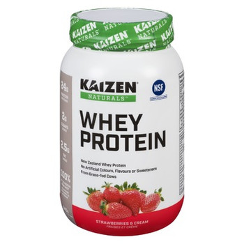 Kaizen Naturals New Zealand Whey Protein Powder - Strawberries & Cream | 840 g