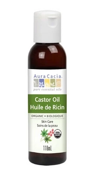 Aura Cacia Organic Castor Skin Care Oil | 118 mL