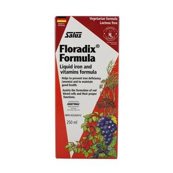 Salus Floradix Formula Liquid Iron & Vitamins Formula   250 ml