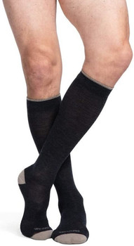 Sigvaris 421 Merino Outdoor Wool Knee High Socks - Charcoal | SMALL