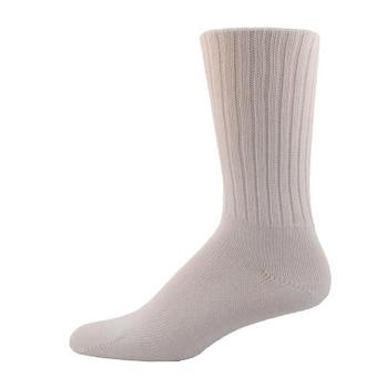 Simcan Easy Comfort Diabetic Socks for Sensitive Feet - White | Large