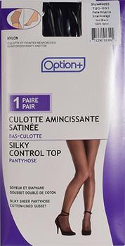Option+ Silky Control Top Pantyhose - Black | Small/Medium