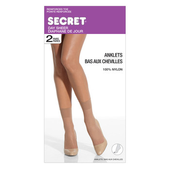 Secret Day Sheer Anklets - Beige | 2 Pairs