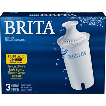 Brita Replacement Water Filters for Pitchers & Dispensers | 3 Filters