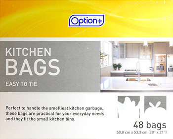 Option+ Easy to Tie Kitchen Bags | 48 Bags