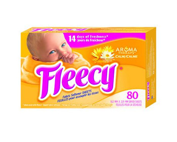 Fleecy Fabric Softener Dryer Sheets - Aroma Therapy Calm | 80 Sheets