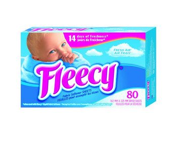 Fleecy Fabric Softener Dryer Sheets - Fresh Air | 80 Sheets