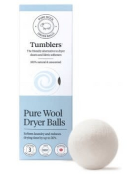 Tumblers Pure Wool Dryer Balls | 3 Balls