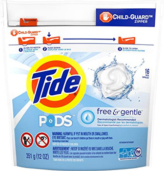 Tide Pods Free & Gentle | 16 Capsules