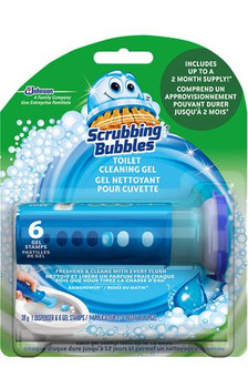 Scrubbing Bubbles Toilet Cleaning Gel | 6 Gel Stamps