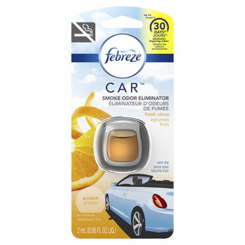 Febreze Air Freshener and Smoke Odor Eliminator Car Vent Clips - Fresh Citrus | Up to 30 Days