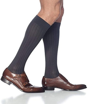 Sigvaris 189 Business Casual 15-20mmHg Mens Business Casual Closed Toe Socks - Black | SIZE A