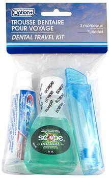 Option+ Dental Travel Kit   3 Pieces