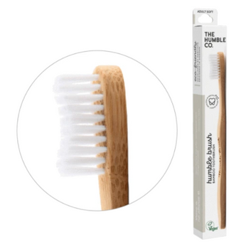 Humble Co. Humble Brush Bamboo Toothbrush - White | Adult Soft