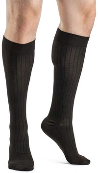 Sigvaris 189 Business Casual 15-20mmHg Mens Business Casual Closed Toe Socks - Brown | SIZE A