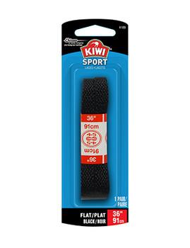 "Kiwi Sport Laces - Flat Black | 36"""