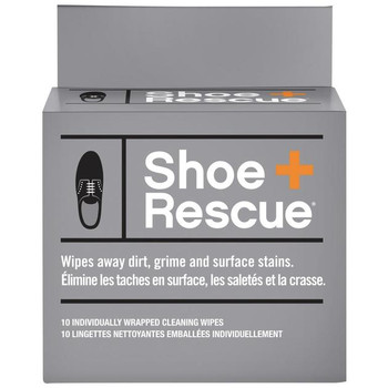 Shoe+ Rescue Cleaning Wipes | 10 Individually Wrapped Cleaning Wipes